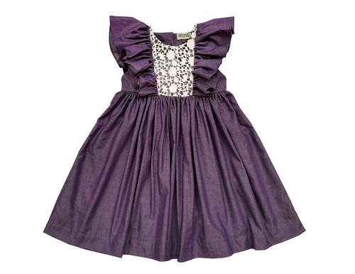 Sophie Catalou Girls Toddler & Kids Violet Fannie Dress 2-10y