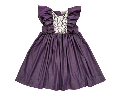 Sophie Catalou Girls Toddler & Kids Violet Fannie Dress 2-10y