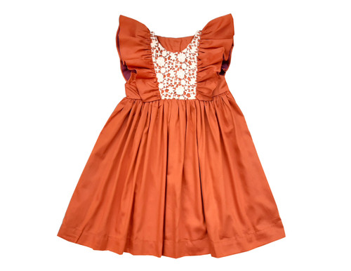Sophie Catalou Girls Toddler & Kids Pumpkin Athena Dress 18m-6y