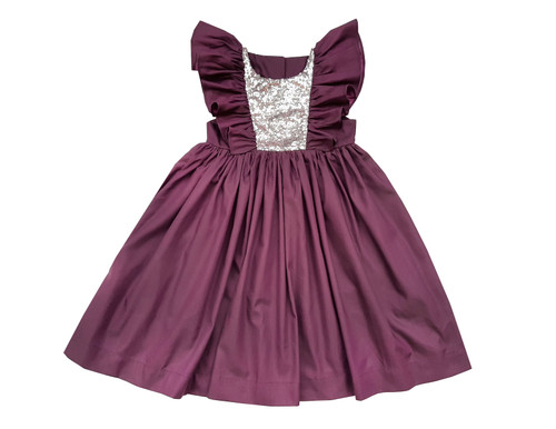 Sophie Catalou Girls Toddler & Kids Purple Argento Dress 2-10y