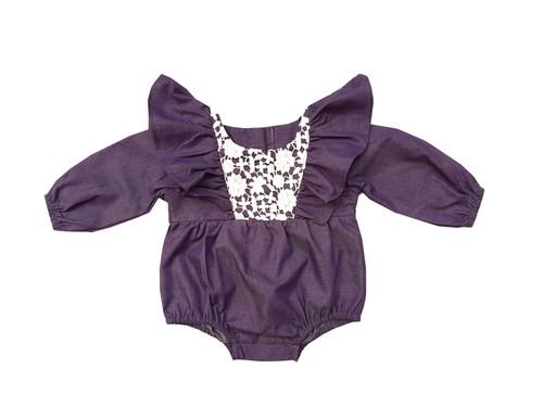 Sophie Catalou Infant Purple Anna Romper 3-24m