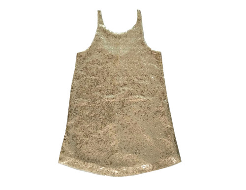 Sophie Catalou Girls Toddler & Kids Gold Belen Dress 2-8y