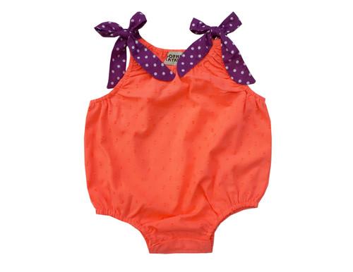 Sophie Catalou Infant Fluorescent Orange Bubble Romper 3-12m