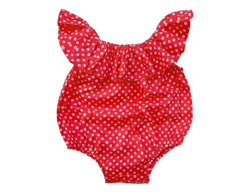 Sophie Catalou Doughnatella Baby  Ruffle Romper 3-18m