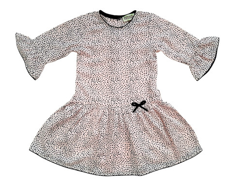 Light Blush Dot Abigail Dress