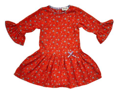 SOPHIE CATALOU RED BLUE GRAY CAROLINE DRESS