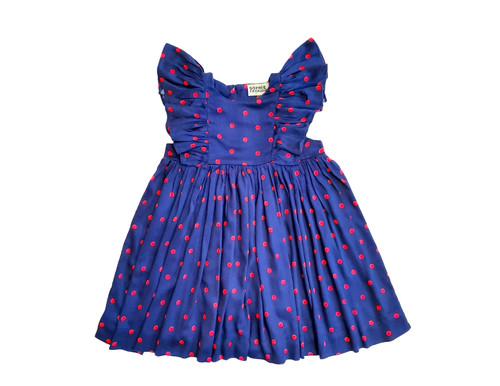 SOPHIE CATALOU BLUE NEON PINK GRACE DRESS