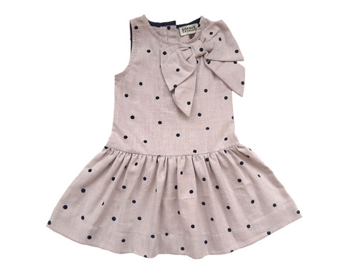 SOPHIE CATALOU ECRU POLKADOT REGGIE DRESS