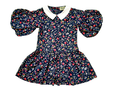 SOPHIE CATALOU NAVY DITSY FLORAL MARISSA DRESS