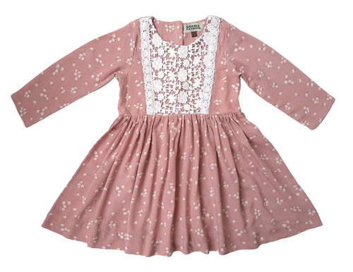 SOPHIE CATALOU BLUSH FLORAL LACE JACEY DRESS