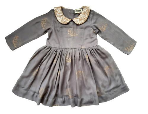 SOPHIE CATALOU BLUE SLATE GOLD SEQUIN SELENA DRESS