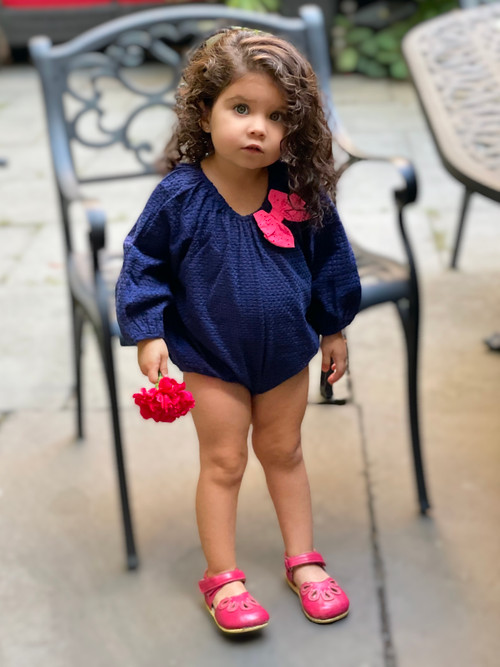 Sophie Catalou Royal And Pink Eyelet Bubble