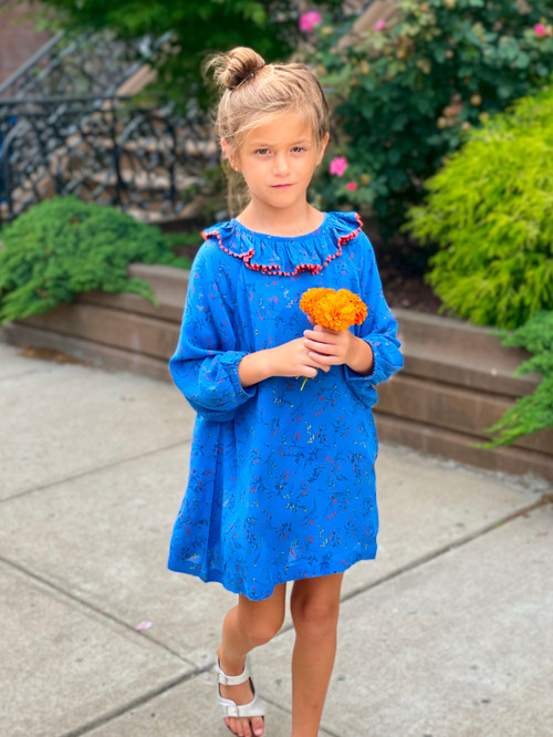 Sophie Catalou Royal Blue Tassel Dilaine Dress
