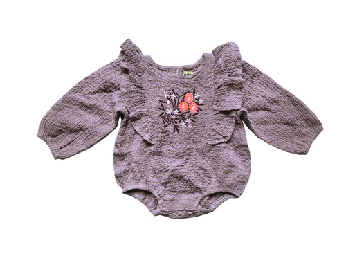 LUCKY SIZE 3m Crepe Embroidery Bubble Lavender