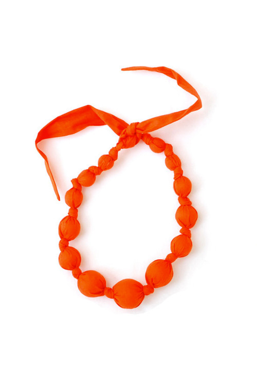 Lava Wooden Bead Necklace