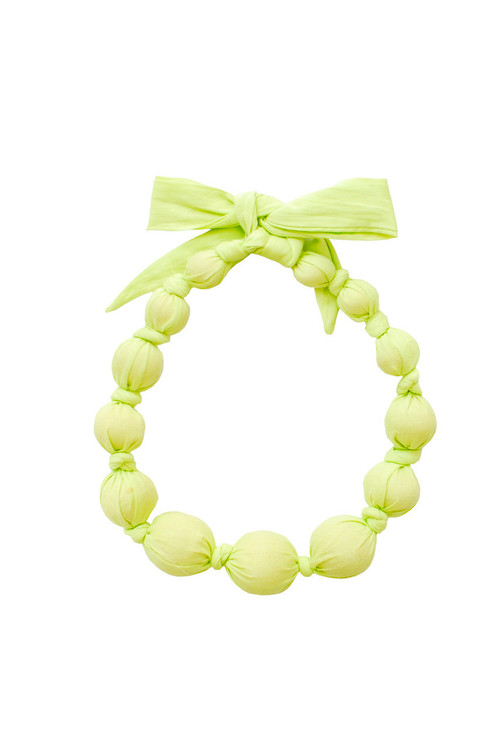 Sophie Catalou Girls Limepop Wooden Bead Necklace