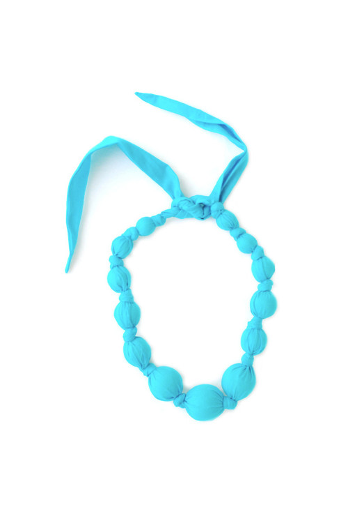 Turquoise Wooden Bead Necklace