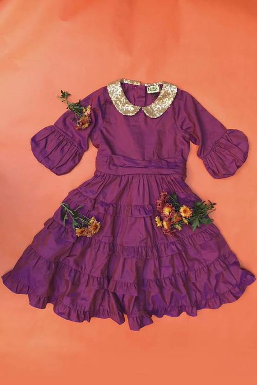 Sophie Catalou Girls Toddler & Kids Purple Tatiana Dress 2-6