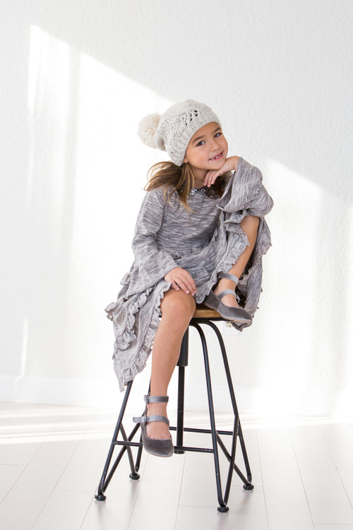 Sophie Catalou Girls Toddler & Kids Space Dyed Tatiana Dress 2-6y