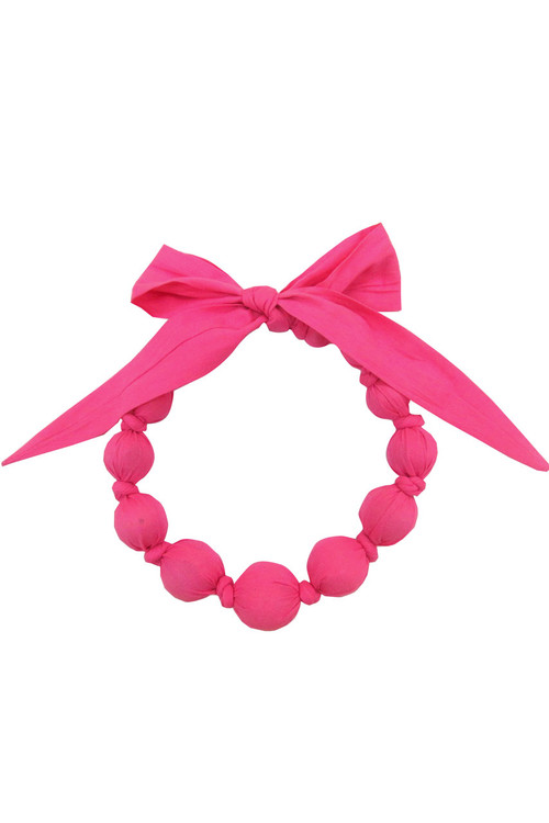 Sophie Catalou Girls Bubblegum Wooden Bead Necklace