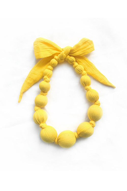 Sophie Catalou Girls Yellow Crinkle Necklace