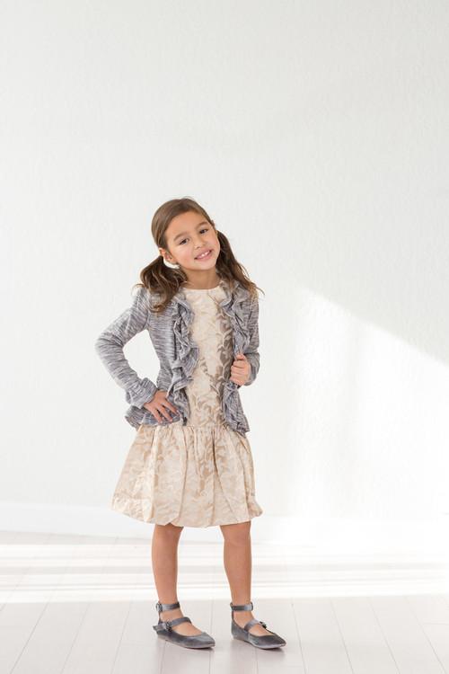 Sophie Catalou Girls Toddler & Kids Space Dyed Hi-low Cardigan 2-5y