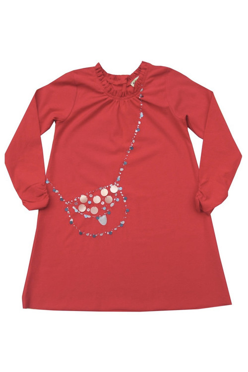 Sophie Catalou Girls Toddler & Kids Carnation Sequin Bag Dress 3-8y