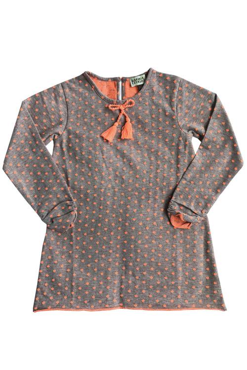 Sophie Catalou Girls Toddler & Kids Polka Dot Knit Shift Dress 4-6y