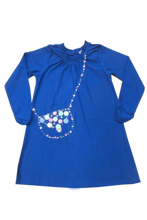 Sophie Catalou Girls Toddler & Kids Royal Sequin Bag Dress 4-6y