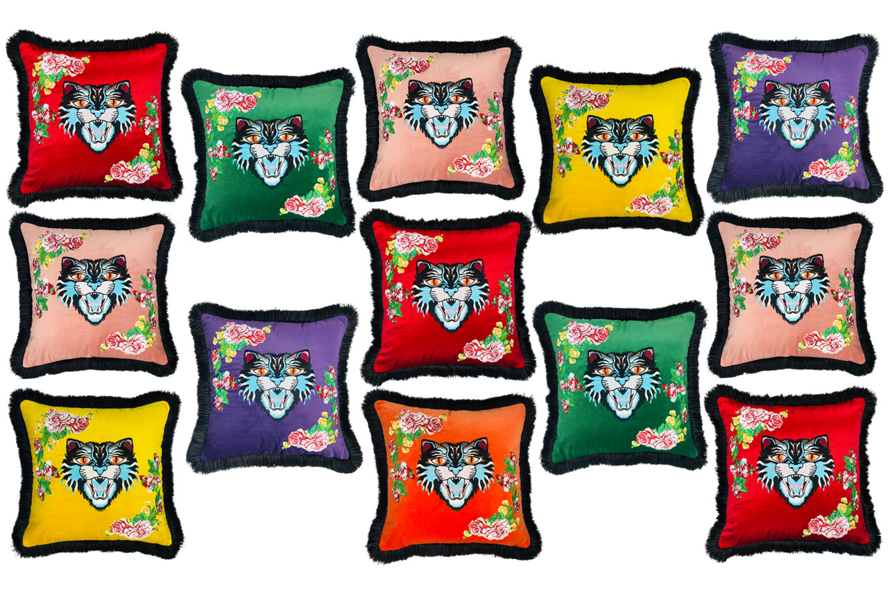 Embroidery Design Throw Pillows
