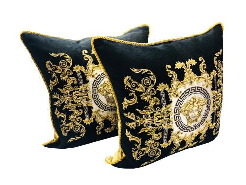 Mesuda Barocco Greek Key Throw Pillow Set