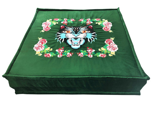 TIGER EMBROIDERY FLOOR PILLOW