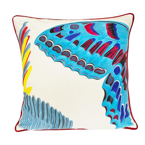 Butterfly Painting Velvet Throw Pillow