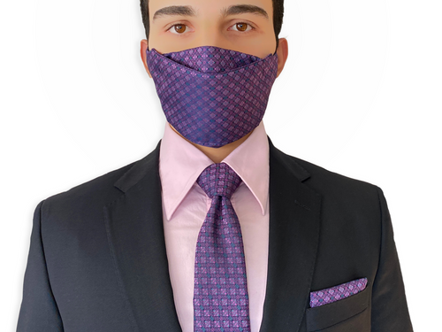 Fathers day gift 2021, face mask matching necktie set
