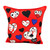 MOSCHINO SILK PRINTED SQUARE SCARF - OLIVE OYL RED APPLIQUE PILLOW SET OF TWO