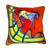 Hermes Silk Scarf Applique Pillow Orange Velvet / Horse
