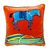Vintage Hermes Silk Scarf, Applique Pillow