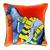 Hermes Horse Pillow in Orange Velvet