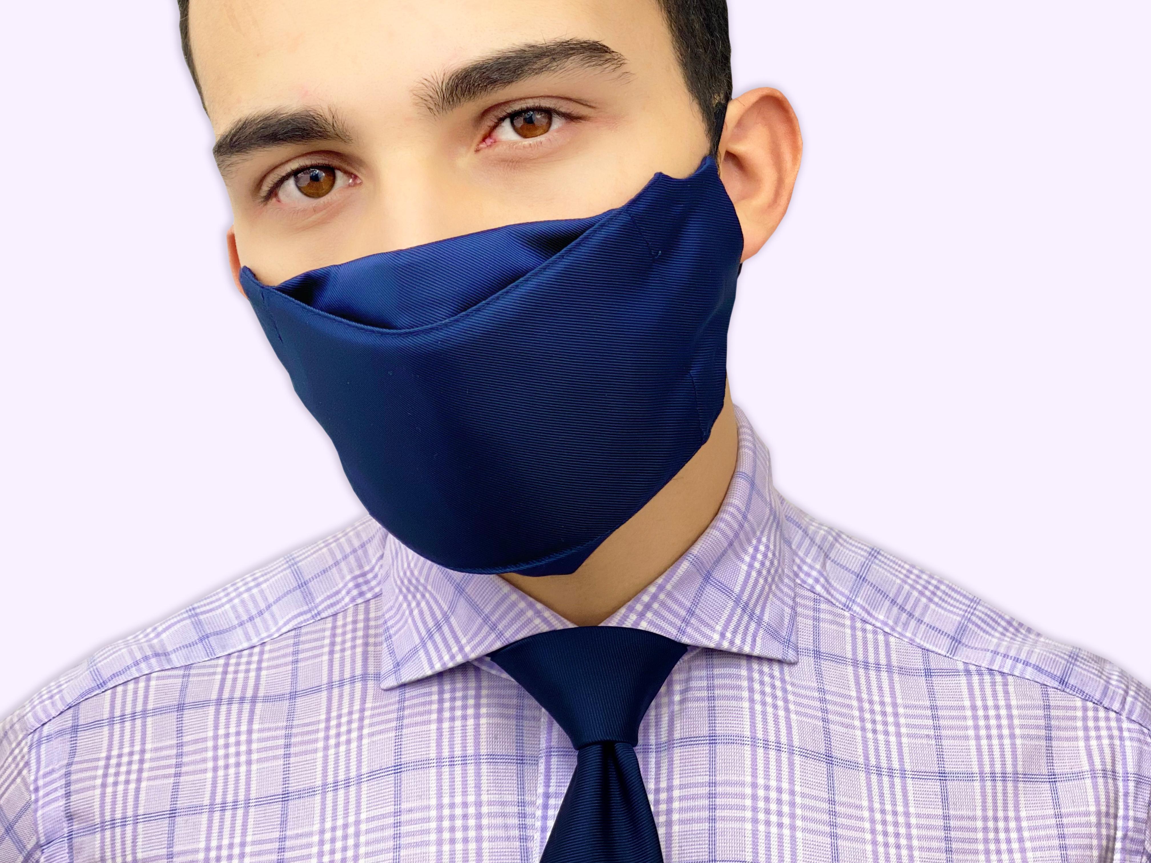face mask necktie set Christmas gift for men