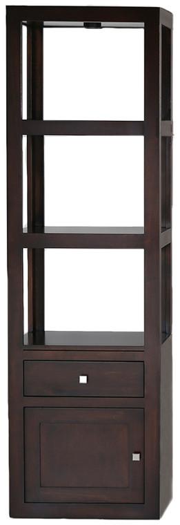 As Shown: Maple Tobacco, Configuration: Wood Door