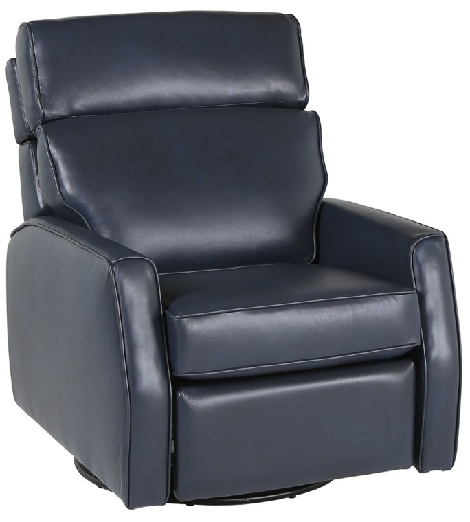 Annabelle Tate Coy Swivel Recliner With Headrest In Leather AT4646-62-L