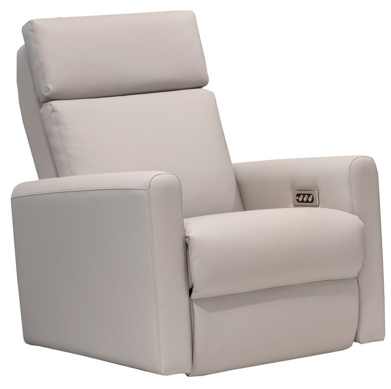 Elran Lillian Power Swivel Glider Recliner with Power Headrest In Leather ERL0082-SG-OPH-L