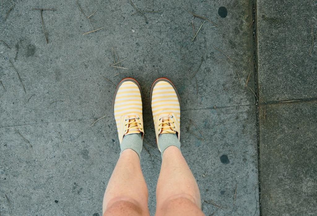 Aponi Yellow Stripes Canvas