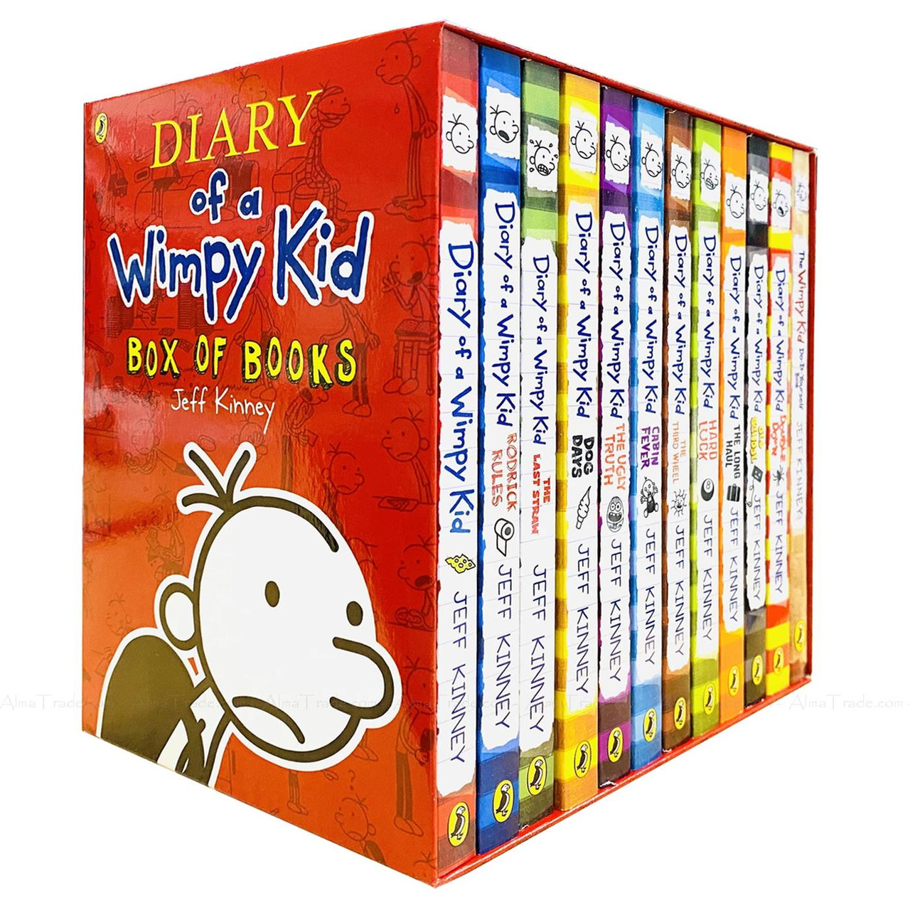 Diary Of A Wimpy Kid Classic Reading Collection By Jeff Kinney 12 Books Box Set Alma Trade Ltd