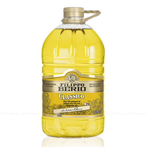 Filippo Berio Classic Classico Refined Virgin Composed Olive Oil Cooking Fry 5L