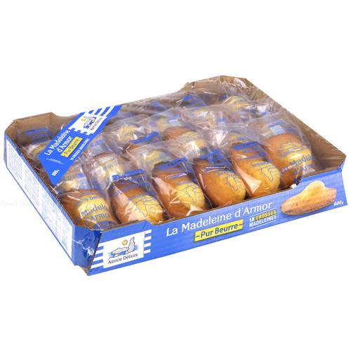 La Madeleine D'Armor All Butter Fresh French Breakfast 18 Cakes Packs Bite 600g