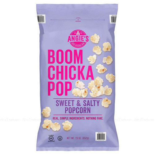 Angie's Boom Chicka Pop Sweet & Salty Kettle Popcorn Movies Theater Pack of 652G