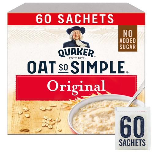 Quaker Oat So Simple Original Porridge Whole Grain - Pack of 60 Sachets x 27g