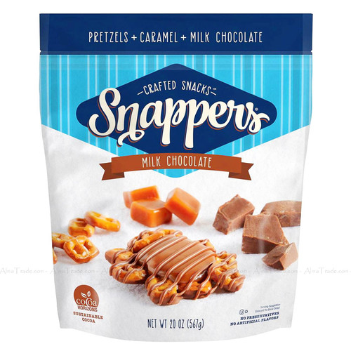 Crafted Snacks Snappers Milk Chocolate Caramel Pretzels Treat Bites Pack of 567g