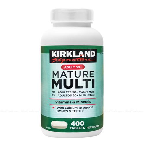 Kirkland Signature Adult 50+ Mature Multi Vitamins & Minerals Lutein 400 Tablets